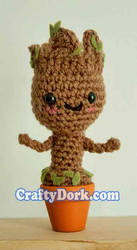Baby Groot Amigurumi by pirateluv