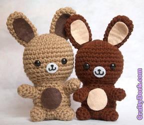 kawaii bunnies by pirateluv