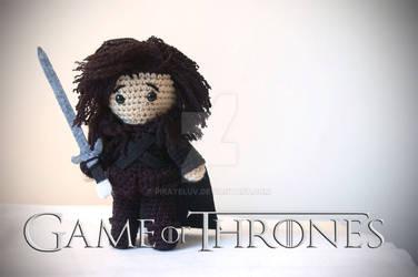 Jon Snow amigurumi plush by pirateluv