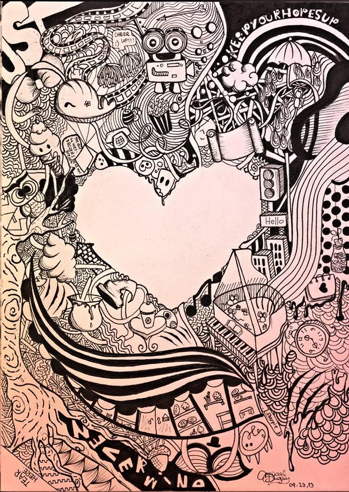 Doodle heart by AbegaelDugay