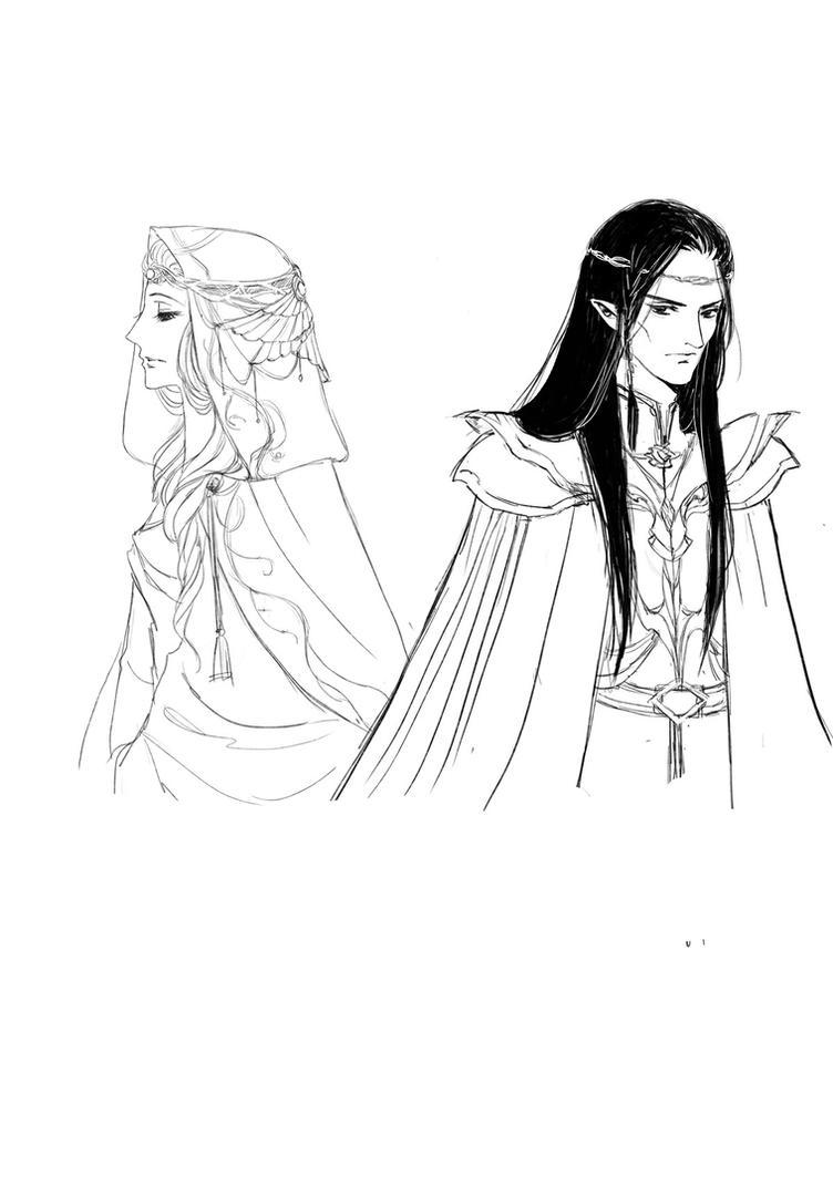 Maeglin and Idril by Carnilian