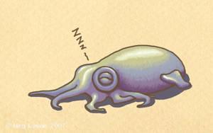 Snoozy Squid by MegLyman