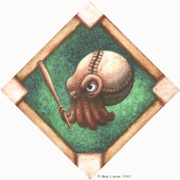 Baseball Squid by MegLyman