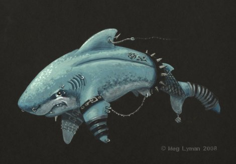 Goth Shark by MegLyman