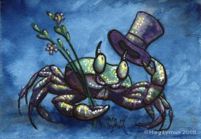 Gentleman Crab ACEO by MegLyman