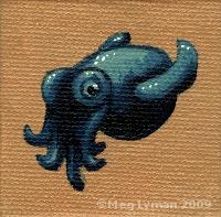Little Blue Cuttlefish by MegLyman