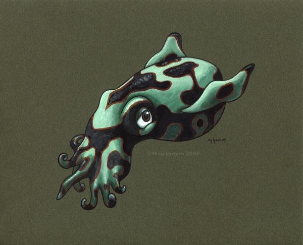 Poison Dart Squid by MegLyman