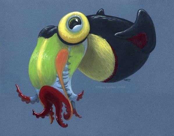 Keel-Billed Squid by MegLyman