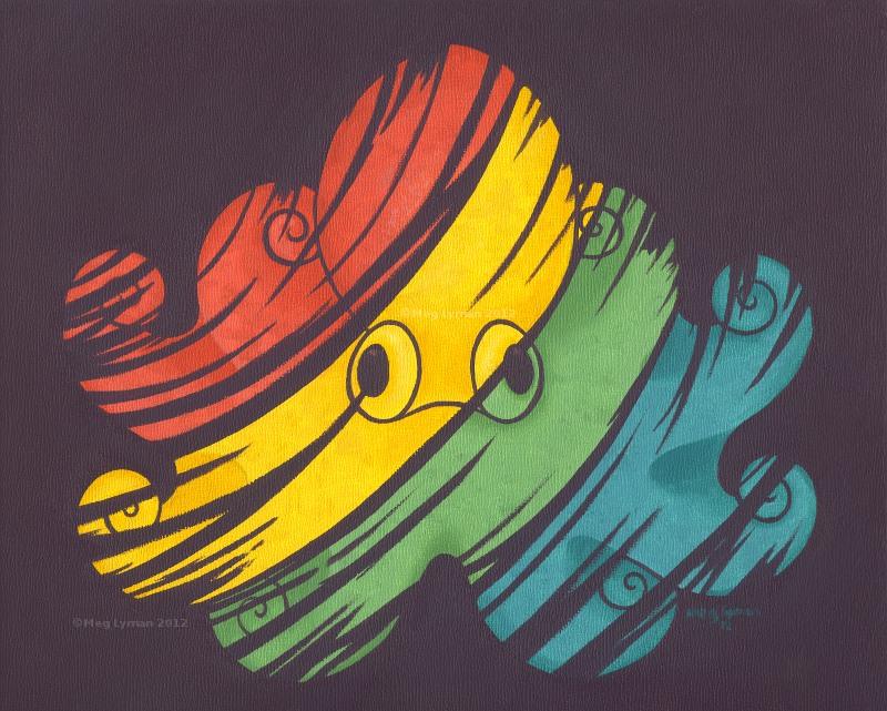 Rainbow Octopus by MegLyman