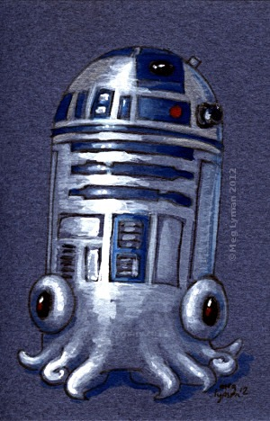 R2D2 the Astromech Squid by MegLyman