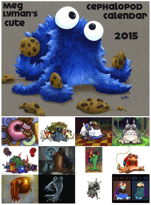 2015 Cute Cephalopod Calendar by MegLyman