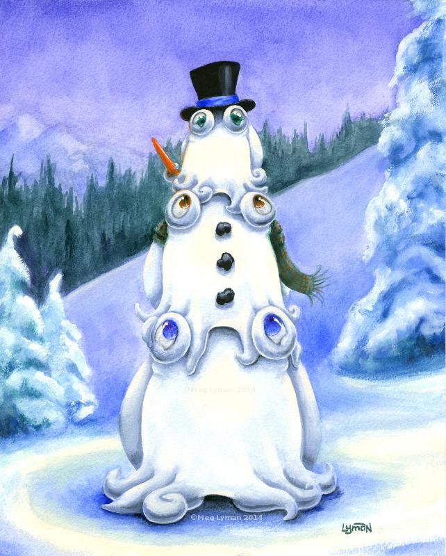 Snowman by MegLyman