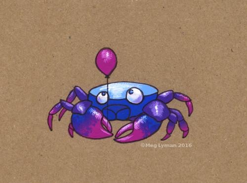 Crab balloon by MegLyman