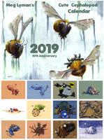 2019 Cute Cephalopod Calendar by MegLyman