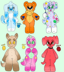 90s kid show plushies OTA by pansexualdoodles