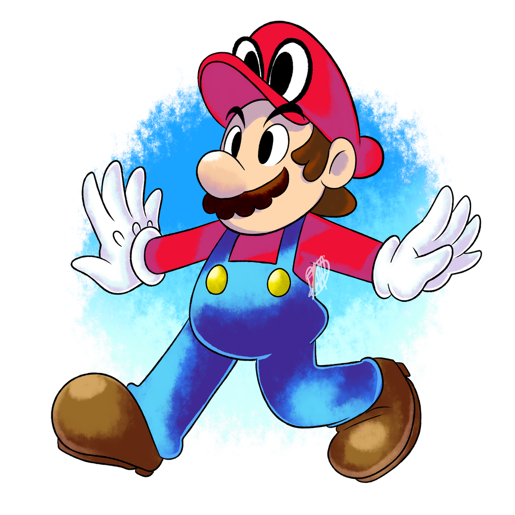 Fanart super mario odyssey by dnpinotti123 on deviantart for Super mario odyssey paintings