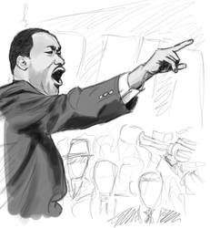 Martin Luther King speedsketch by Lordmarshal