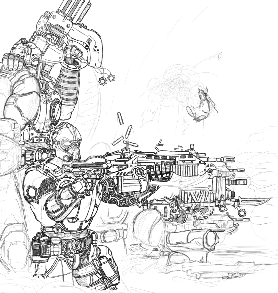 Gears Of War Logo Coloring Pages Coloring Pages