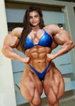 Super-muscled Supermodel
