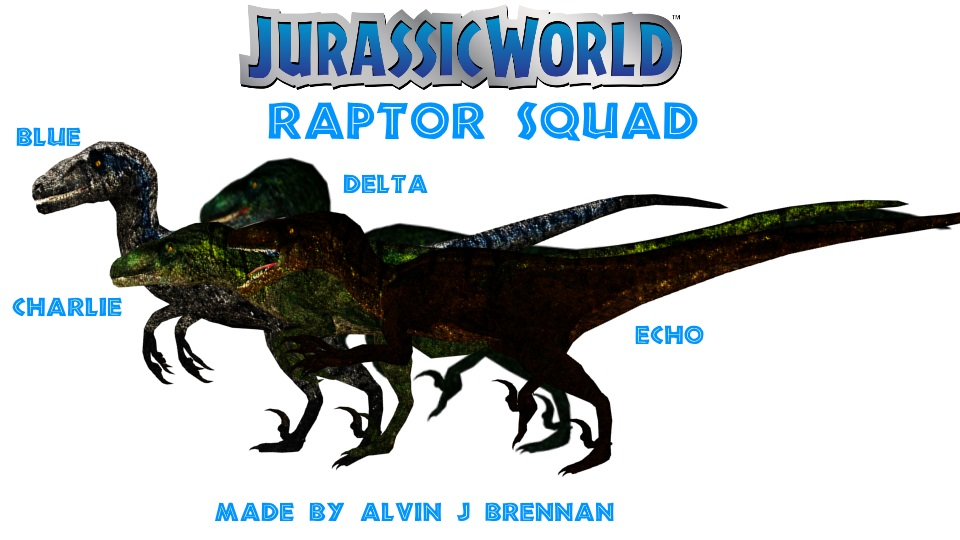 Raptor Squad Jurassic World by GorgonGorgosaurus