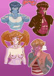 Devilman Stickers 1 by Tsukigami-Moon