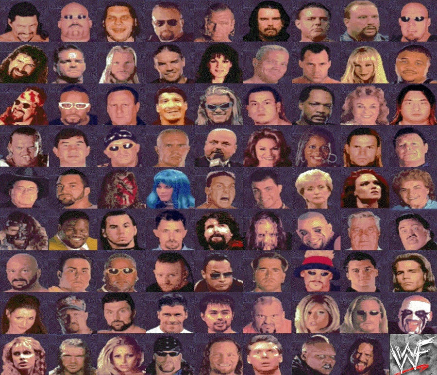 WWF No Mercy Complete Roster by nothingtolookat