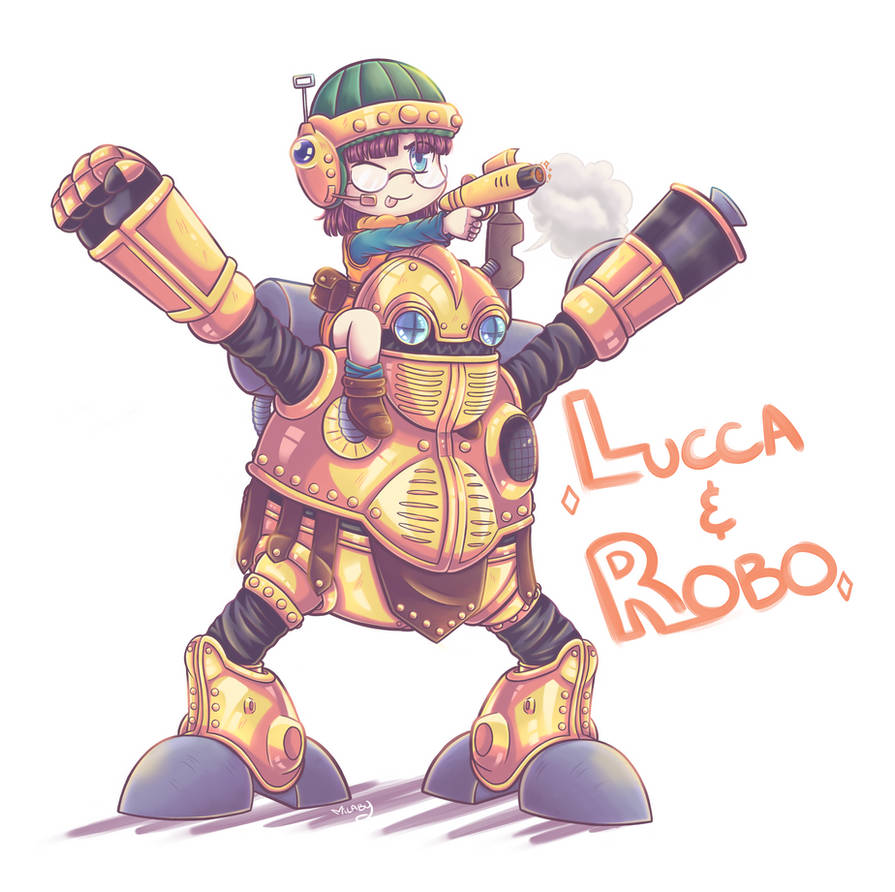 Lucca and Robo sticker