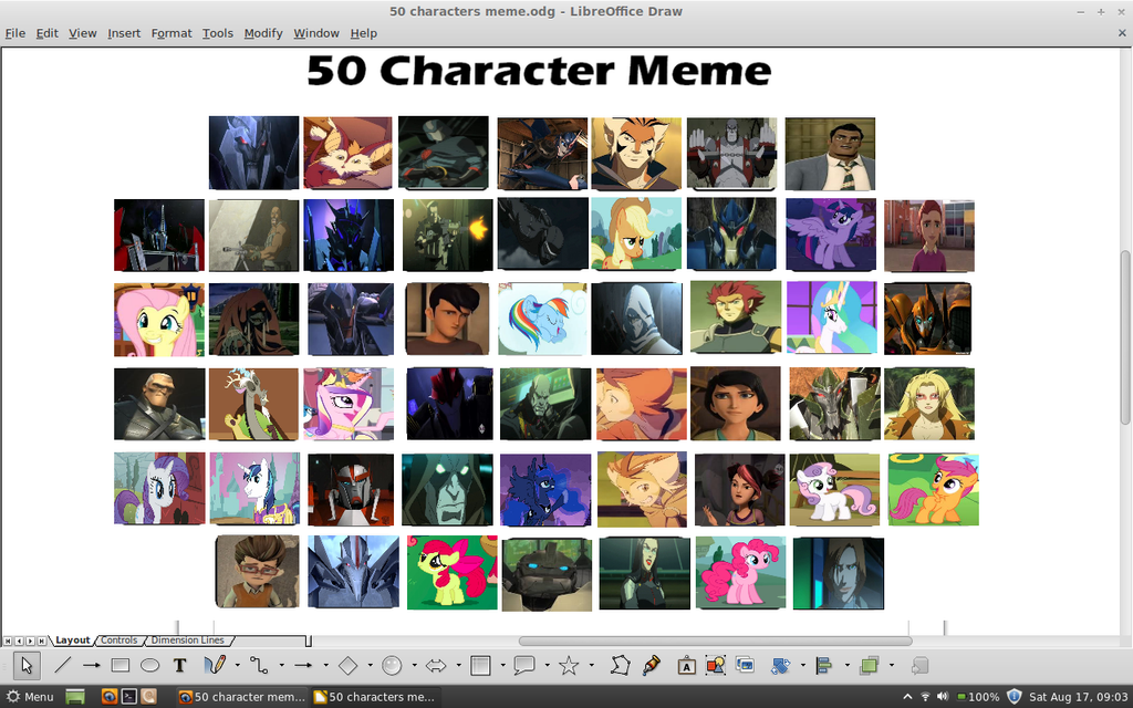 50 cartoon character meme by samvadar