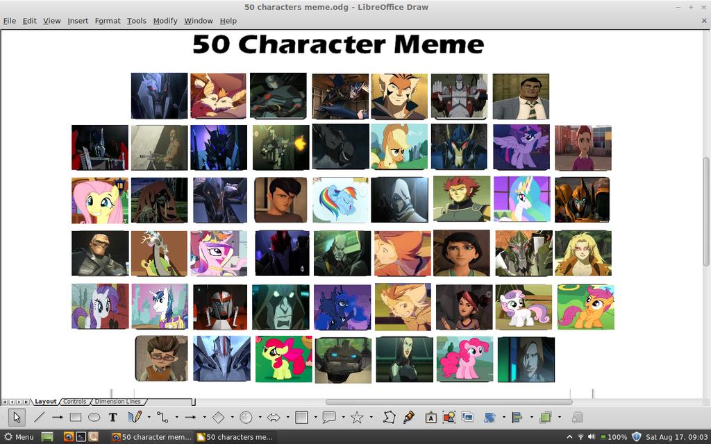 50 cartoon character meme by samvadar
