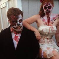 Sugar Skull Zombies by AsSeenOnStevie