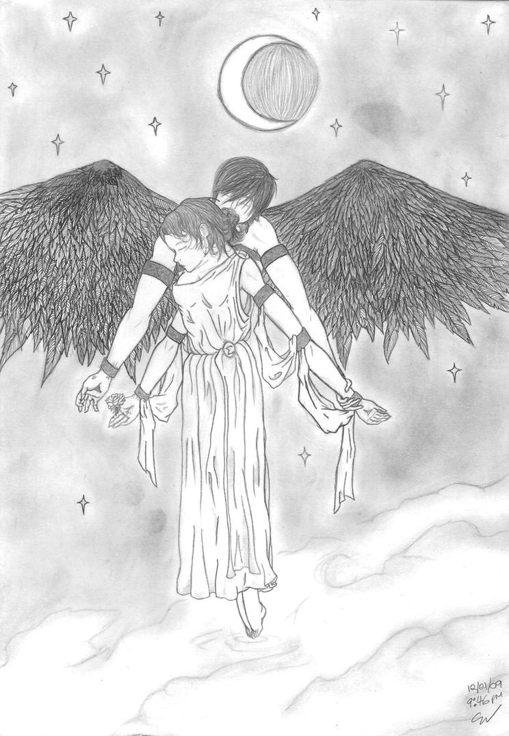 Eros and Selene - Lovers by xxxDeath-By-Sleepxxx