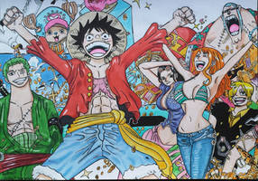 Straw Hat Pirates (finished) by Anime-With-Jackson