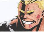 Toshinori (All Might) Yagi by Anime-With-Jackson