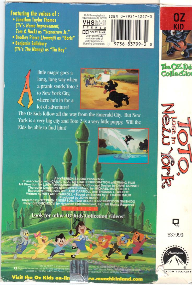 The Oz Kids Vhs Back Cover By Toonman1508 On Deviantart