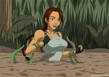 Lara Croft Tentacle Quicksand 02 by A-020