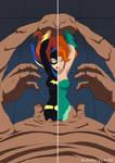 Batgirl Poison Ivy vs Clayface by A-020