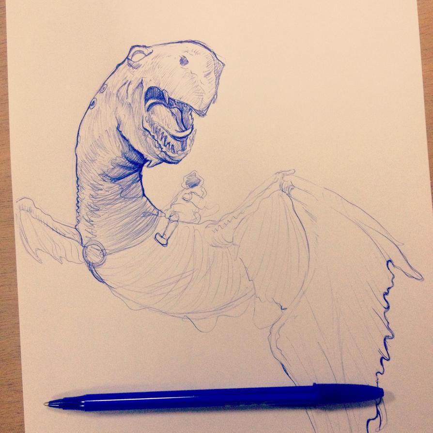 Dragon \ pencil by kitvinicius