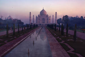 INDIA : THE TAJ MAHAL NIGHT : PREMADE BACKGROUND by thehouseofphotoshop