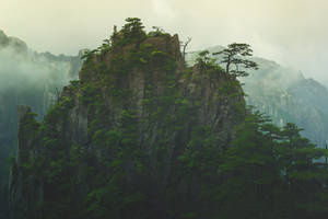 STOCK : MOUNTAIN : HUANGSHAN : PREMADE BACKGROUND by thehouseofphotoshop