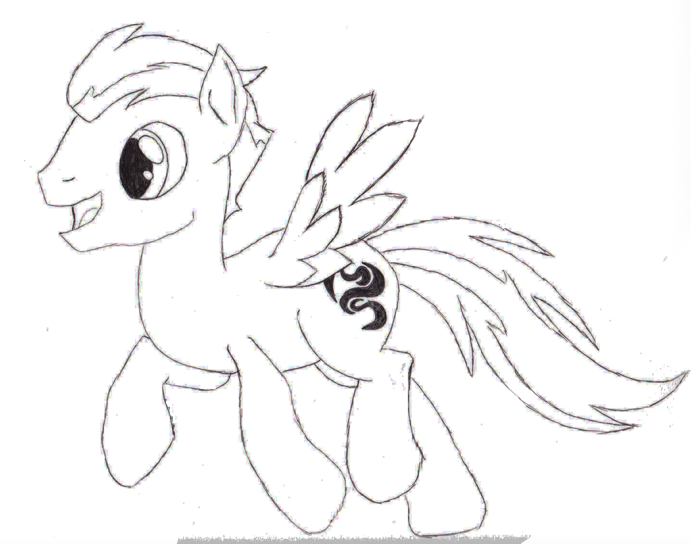 My Little Pony OC Sketch - Windy Hooves by Br0nyTime on