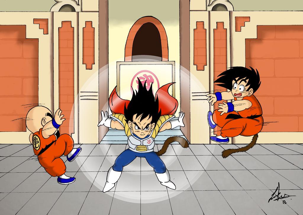 Kid Goku And Kid Vegeta Dragon Ball Kid Vegeta...