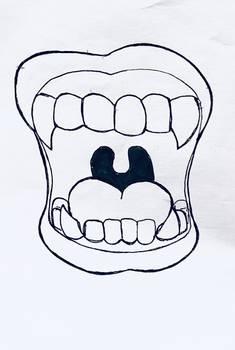 Inktober Day 8: Teeth
