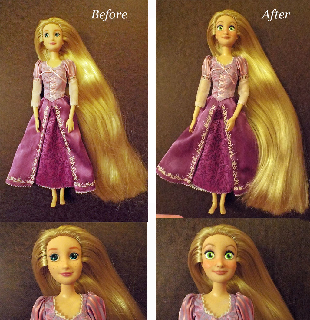 Tangled Rapunzel Doll Face Repaint By Darbylucy On Deviantart
