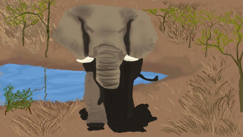 Elephant final by jinxedphoenix
