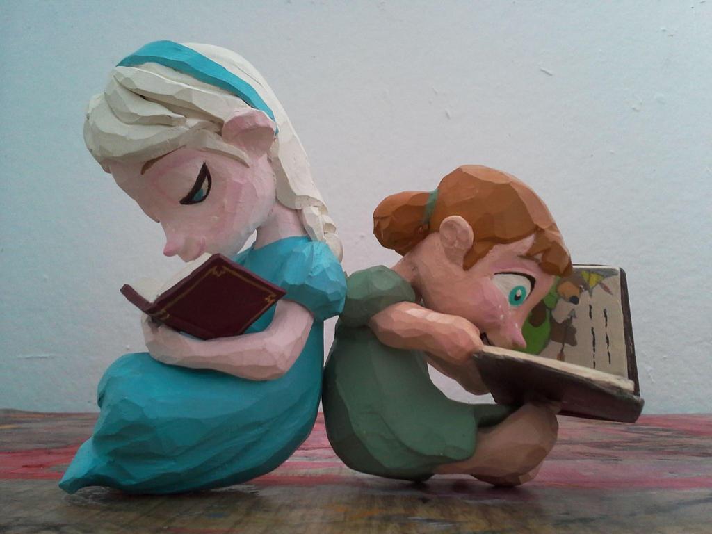 Anna and Elsa by carlotta-guidicelli