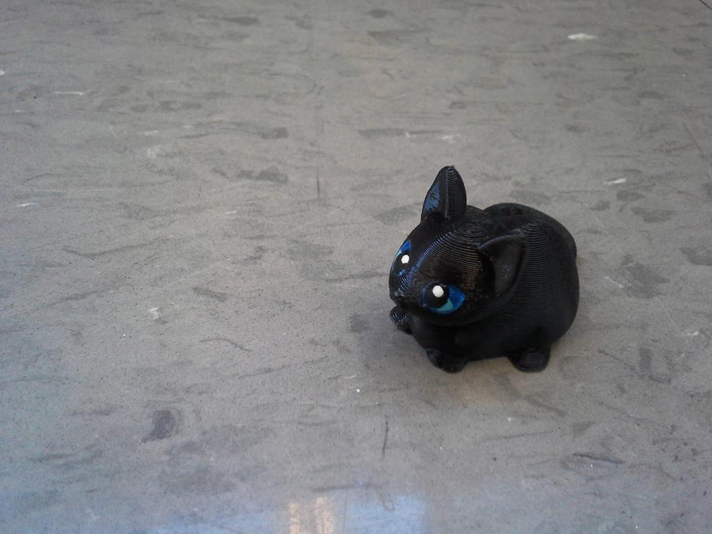 3D Print - Little black cat by carlotta-guidicelli