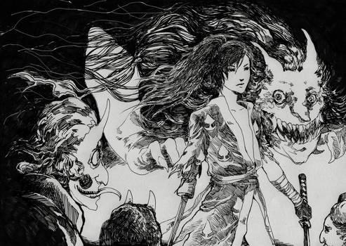 Hyakkimaru vs Night Demons