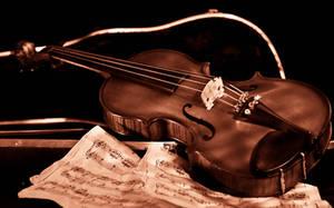 Sepia Toned Violin by ladynightseduction