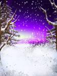 Winter Night FREE BACKGROUND