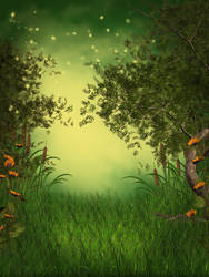 Green Fantasy free background